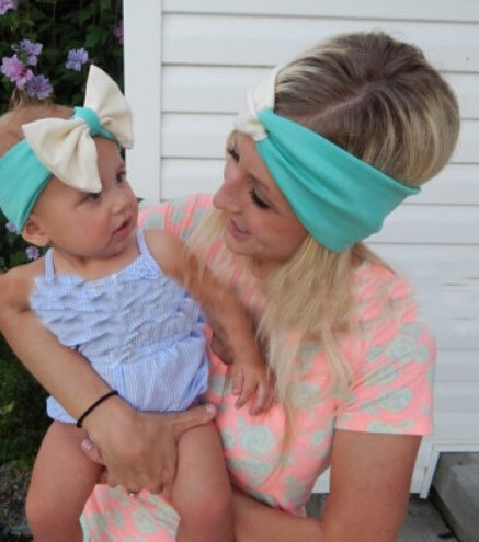 New Top Sale Mom and Me Matching Turban Headband Set Cute Jersey Cotton Head Wraps Baby & Mommy Knotted Hairband(China (Mainland))