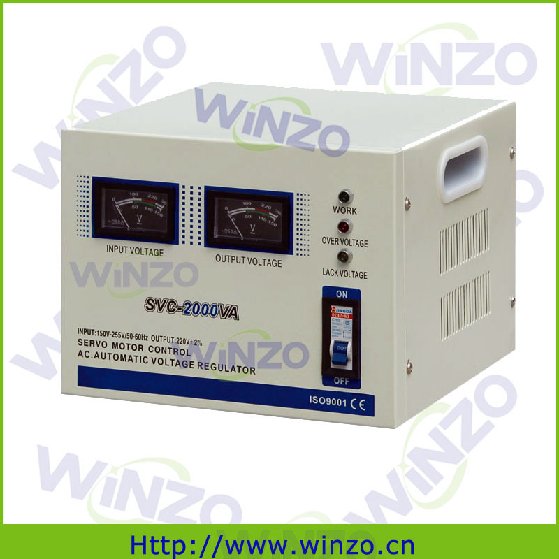 electrical stabilizer servo motor control 2KVA Single Phase AC automatic voltage stabilizer(SVC 2000VA )(China (Mainland))