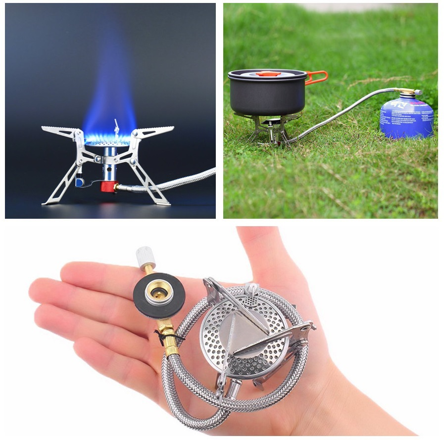 Ultralight Camping Gas Stove Ceramic Ignition Free