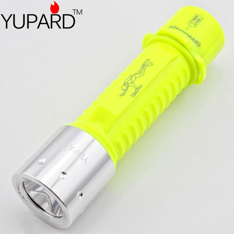 CREE XM-L2 LED Diving Waterproof Underwater Flashlight Lamp Torch 3 Mode super T6 LED 2000LM 18650/AAA battery yellow light(China (Mainland))