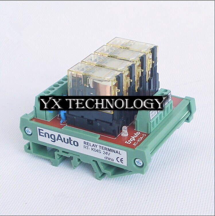 Фотография 4 relay module module PLC enlarged version of the RT-K04D two normally open two normally closed contacts