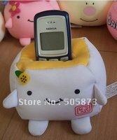 Free Shipping Mobile Phone Holder,Cute Japanese Tofu Plush,Environmentally friendly nanoparticles Toys 10pcs/lot