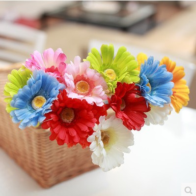 2015 Hot Sale Simulation 6 Color Selection of Fresh Flower Shop Making Plans To Shoot Props Artificial Flowers Full Shipping(China (Mainland))