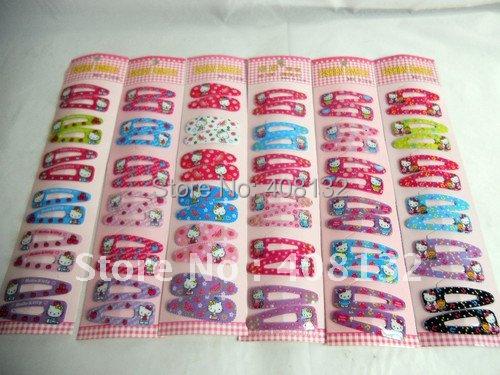 Wholesale Lots ~ Cartoon Hello Kitty Hair Clip (10 Packet/60 Pair)(China (Mainland))