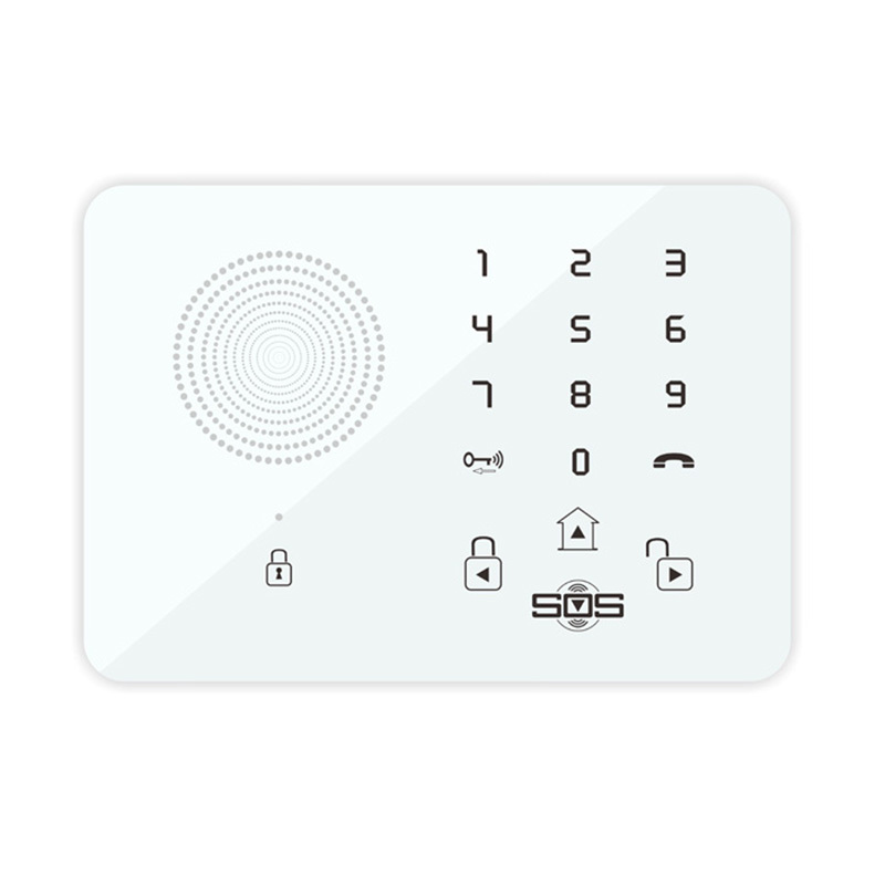 Touch Keypad Wireless Wired GSM Alarm System SOS Help Voice Home Security Burglar Auto Dialing Dialer SMS Call Remote Control K7(Hong Kong)
