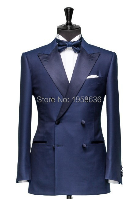 Men Double Breasted Suit Slim Clothing Costume Men Suits Brand 2016 Fashion New Blazer Custom Fit Costume Homme(China (Mainland))