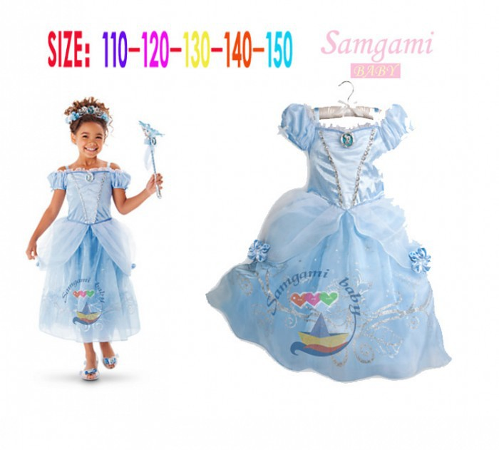 EMS DHL Free shipping 2015 Cinderella little girls kids Princess Tulle Easter Dress cosplay Elegant Tulle Party dress(China (Mainland))