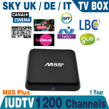 Sky Italy UK Dermany IPTV Box 1200+ Free European Channels 100 Sky channels 100 UK Channels with Android IPTV Box M8s plus