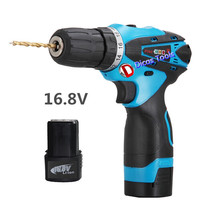 hot selling 16.8v li-ion 2*battery rechargeable drill multi-functional household electric screwdriver drill