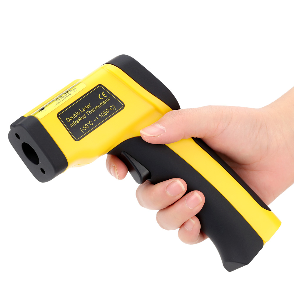 Double Laser Thermometer Digital High Precision Infrared Thermometer Non-contact IR Temperature Tester Pyrometer diagnostic-tool(China (Mainland))