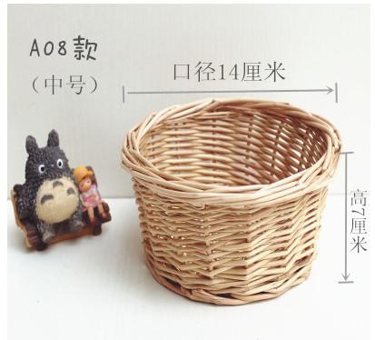 For home decoration storage accessories flowers decorative small handmade wicker basket diy supplies 14cm*7cm(China (Mainland))