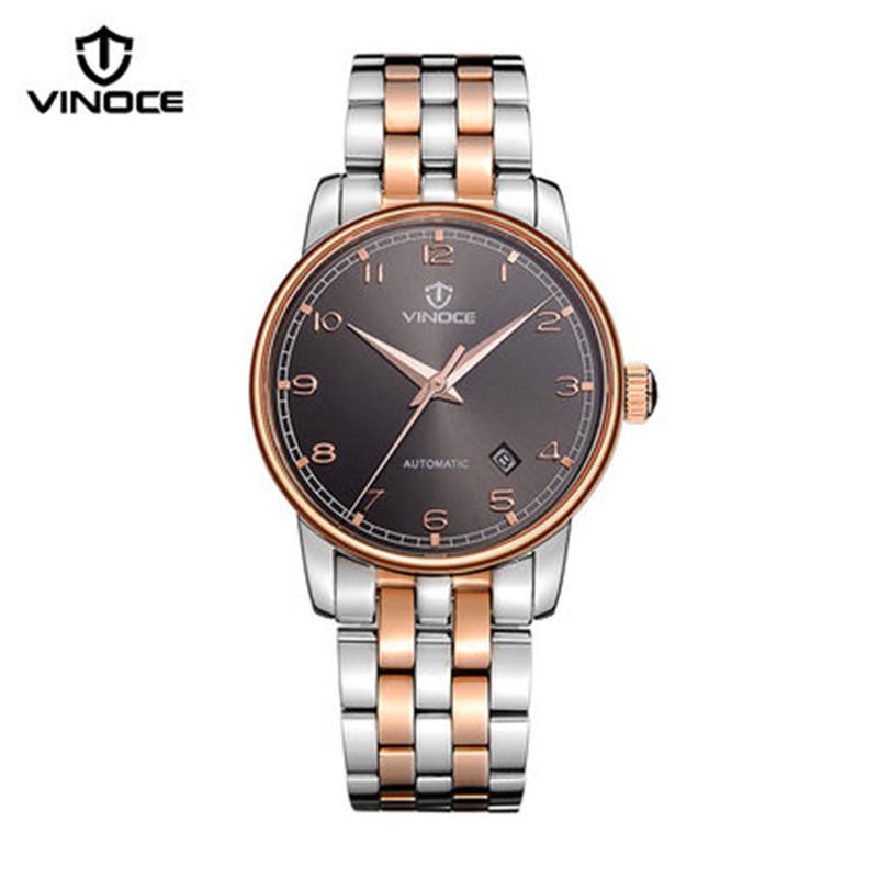 VINOCE 2016 New men casual fashion watch mechanical movement waterproof whole steel luxury sports brand v633238(China (Mainland))