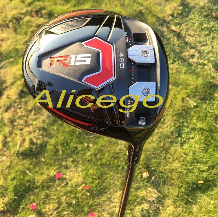 New golf driver black R15 driver 460cc 9.5 or 10.5 degree with speeder 57 stiff graphite shaft OEM quality golf clubs<br><br>Aliexpress