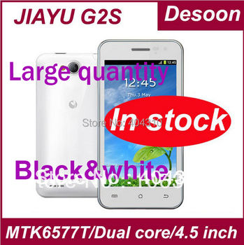 In stock! Jiayu G2S phone Android 4.1 MTK6577T GPS WIFI 4.0 inch ogs IPS 950*540 dual core 1.2GHZ 1GB 4GB russian 2200mah/Maksim