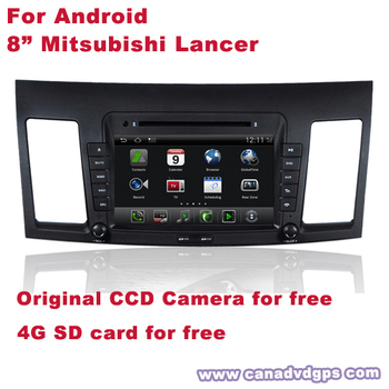 Android Mitsubishi Lancer 2 Din GPS DVD DVR WIFI 3G CCD Camera SD Card for free Best Quality Best Service Free Shipping+Gifts
