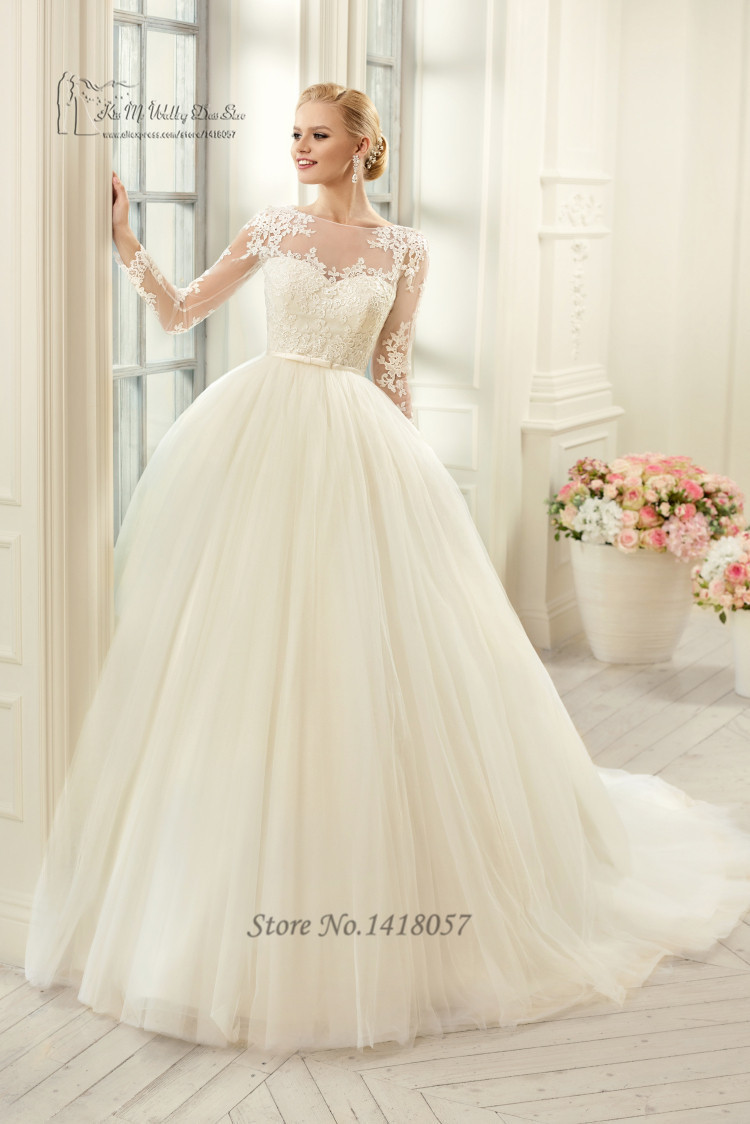 Cheap vintage wedding gowns lace ball gown bridal dress for Vintage wedding dresses for cheap
