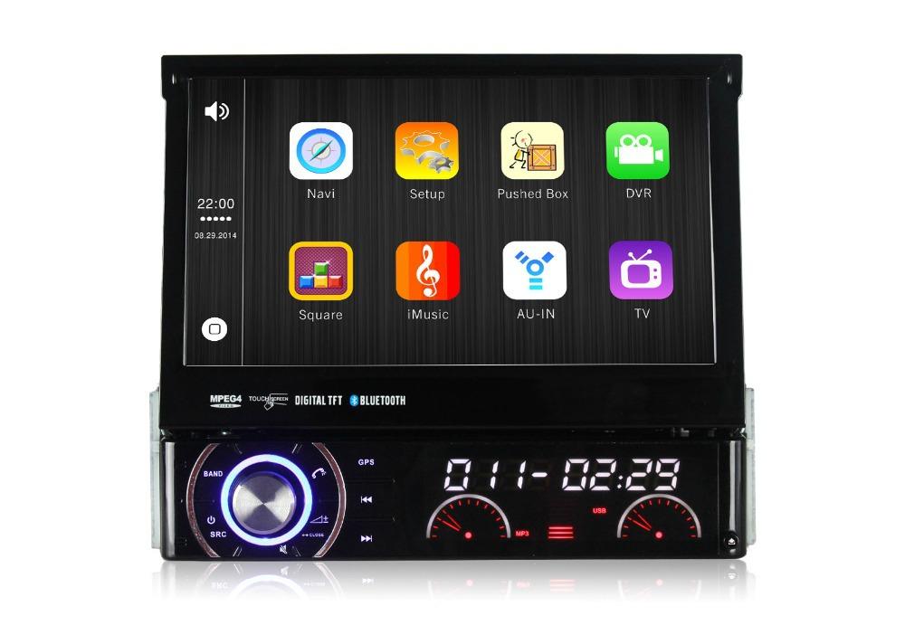 "2015 Car DVD GPS 7"" Wince 6.0 Detachable 1Din HD Car Stereo Universal With Bluetooth 3G Internet Support Digital TV DVB-T Box(China (Mainland))"