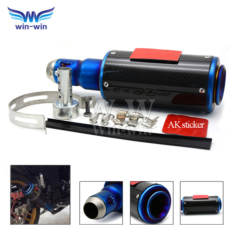 2015 new listing motorcycle accessories colorful style motorcycle muffler carbon fiber exhaust pipe for HONDA MSX125 monkey 135(China (Mainland))