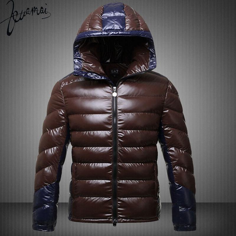 Winter Jacket Men Duck Down Jacket Men Casual  Brand Of Outdoor Sports Stitching Thick Warm Hooded Winter Jacket CoatÎäåæäà è àêñåññóàðû<br><br>