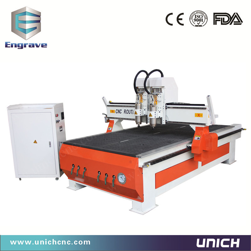 CE standard Mdf&Wood&Acrylic 1325 cnc router/double spindle engraving cnc/cnc stone engraving machine(China (Mainland))
