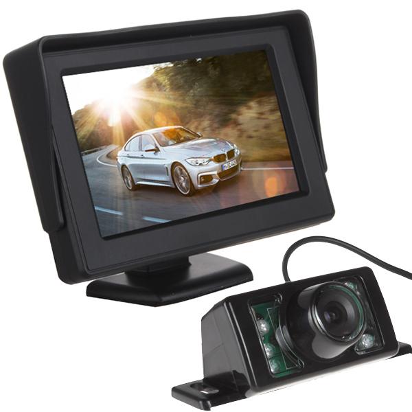 "4.3"" HD Digital Panel Car Rearview LCD Monitor + 7 IR Lights Night Vision Car Rear View Reversing Camera(China (Mainland))"