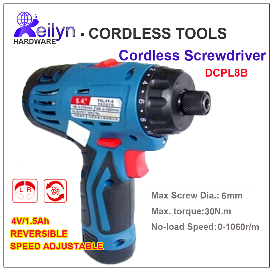 Speed adjustbe Direction Reversibe Rechargeable Impact Driver Electric Drill Drvier Cordless Driver DCPL8B<br><br>Aliexpress