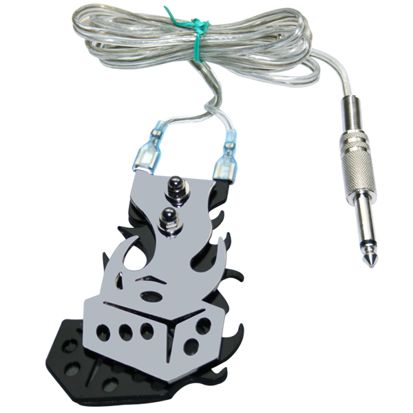 Stainless Steel Tattoo Foot Switch Pedal Tattoo Clip Cord Controller Tattoo Power Supply On Wholesale Price Supply Free Shipping(China (Mainland))
