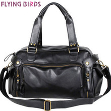 Flying birds! 2015 Men's travel bags vintage men's pu leather bag men messenger bags travel shoulder bag bolsa viagem LM0396(China (Mainland))