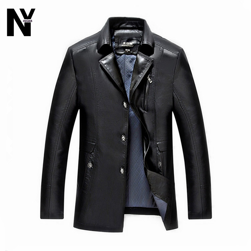 Fashion 2016 Men Leather Jacket And Coats Male Brand Casual Slim Jackets Jaqueta Masculina Mens PU Jacket Trench Coat