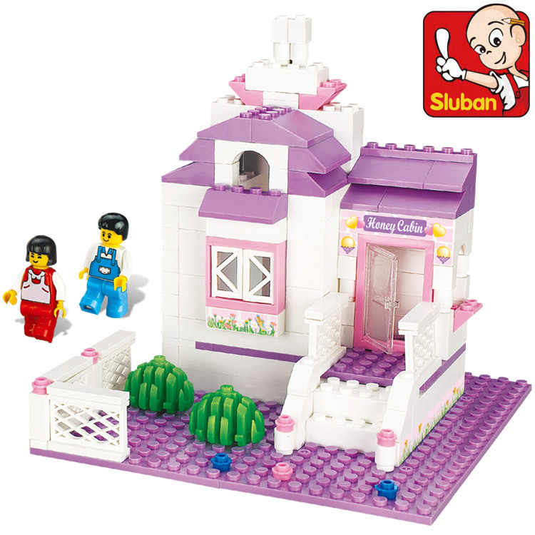 Construction Toys For Girls : Sluban building blocks pink dream my sweet home