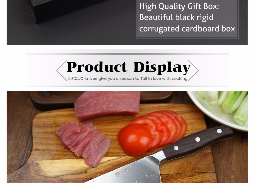 Buy XINZUO 8 inch chef knife Germany steel kitchen knife cleaver knife vegetable/melon knife rosewood  kitchen tool free shiping cheap