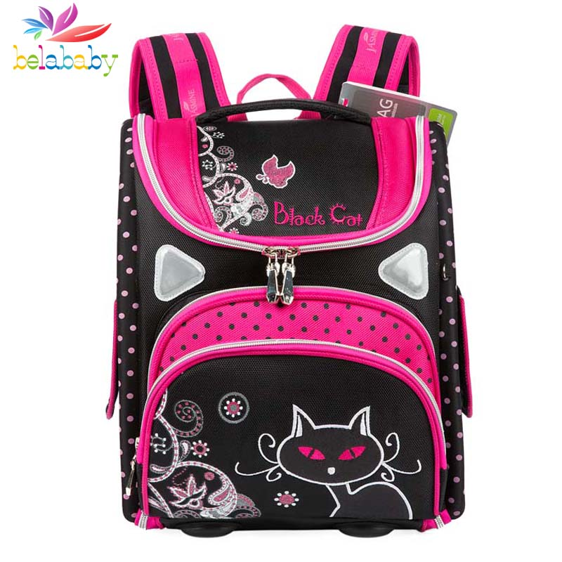 Belababy children School Bag orthopedic backpacks kids Primary Student Cartoon school bags for boys girls mochilas infantil