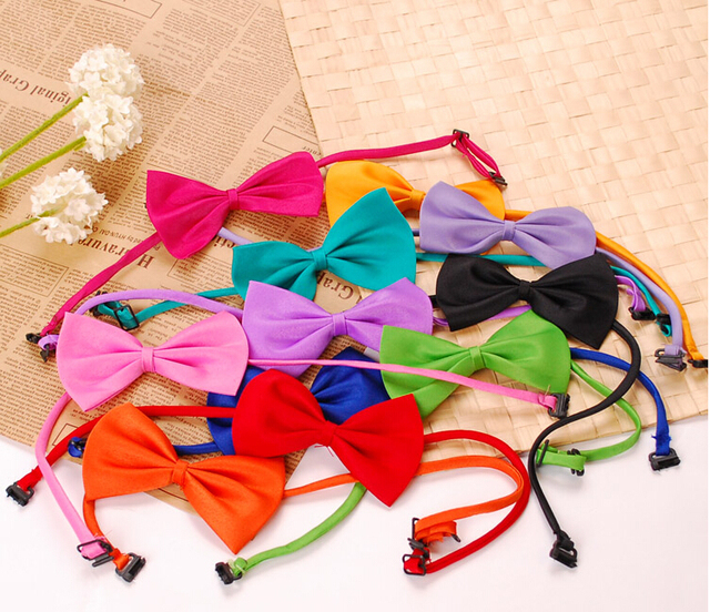 Free shipping 2015 new  fashion bow tie pet accessories for dogs neck 22-40CM-GS027