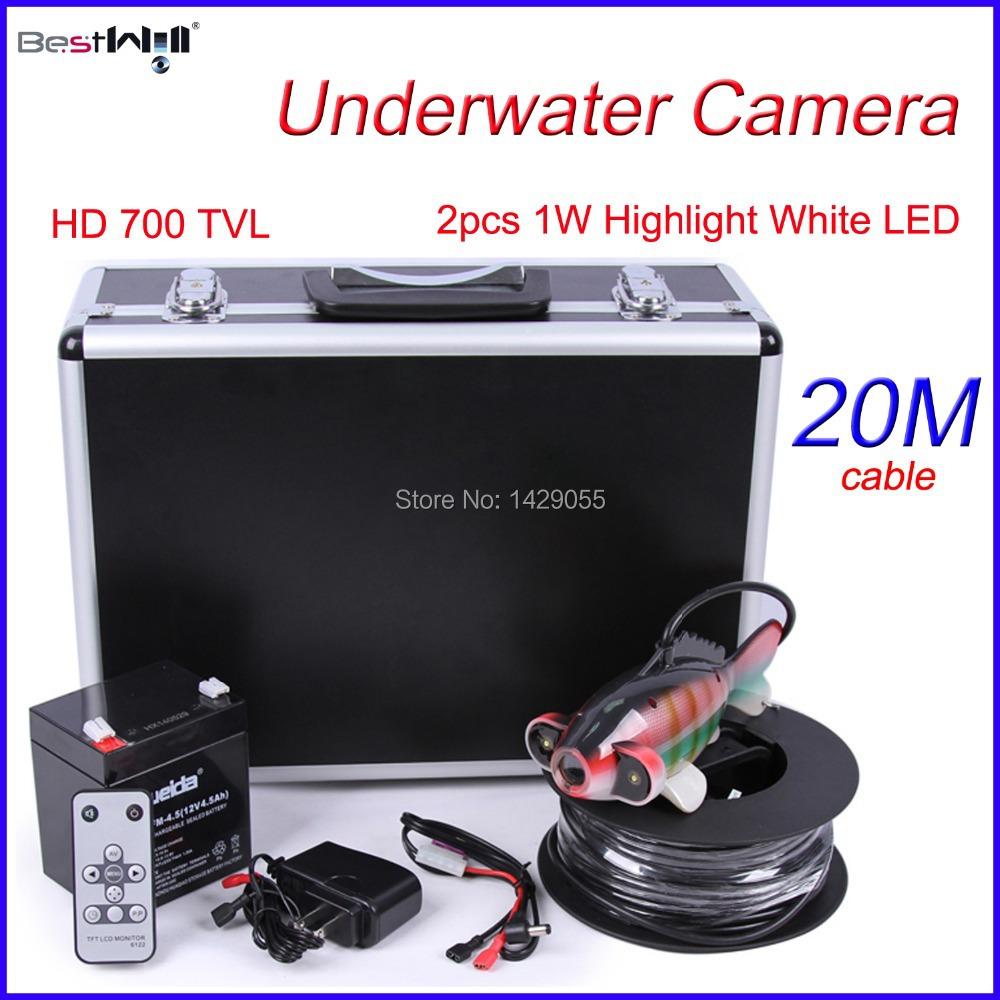 Underwater Camera Underwater Fishing Camera Ice Fishing Camera with 2pcs 1W Highlight White LED CR110-7J @ 20M Cable(China (Mainland))