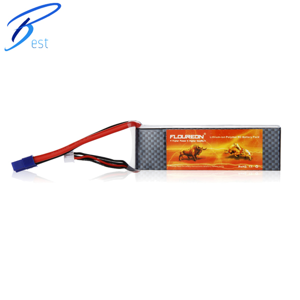 FLOUREON 3S 25C 11.1V 2200mAh Lipo RC Battery EC3 for RC Helicopter RC Airplane RC Hobby(China (Mainland))