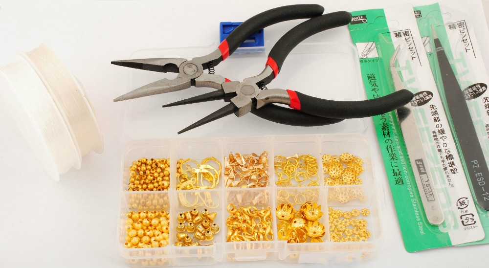 Jewelry manufacturing kit Jewelry making kit, Beads/Caps/Clasp /Pliers Fit Jewelry Tools Findings Accessories DIY 4z1701(China (Mainland))