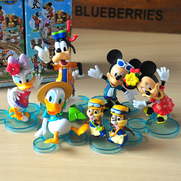Mickey Mouse Clubhouse 6 pieces of Figures 1/10 scale painted figure Minnie Donald Duck Daisy Duck Goofy Dolls PVC ACGN figure(China (Mainland))