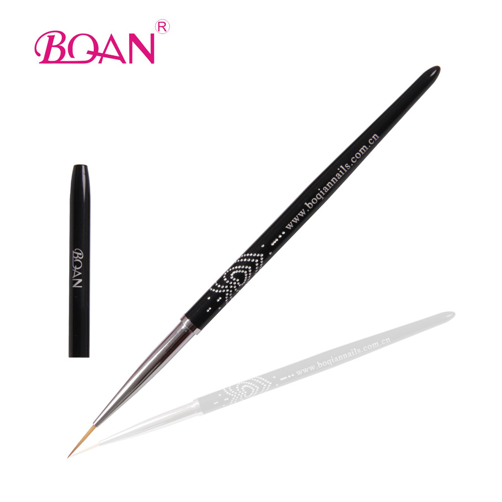 2015 BQAN Factoy Direct Delicate curved Heart-shaped Diamond Liner Brush for Nail Beauty 1 Piece 1#(China (Mainland))