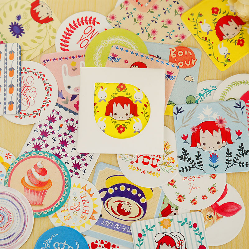 38 pcs/box mini paper sticker decorative decal DIY album diary scrapbooking seal sticker kawaii stationery gift(China (Mainland))