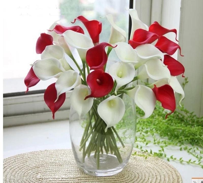 64 Mixed Color Artificial Flowers Bridal Bouquet Mini