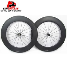 Buy Deercycles Pro Ceramic 700c 88mm Clincher Carbon Road Bicycle Wheels Bike Wheel sets, Powerway R13 R36 Ceramic Bearing hubs for $484.89 in AliExpress store