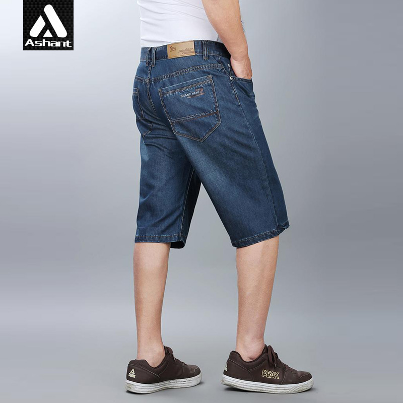 Free Shipping 2014 Summer Dress Mens Brand Jeans Shorts Casual Plus Big Size 4XL 40 42 44 46 Classic Loose Denim ShortsОдежда и ак�е��уары<br><br><br>Aliexpress