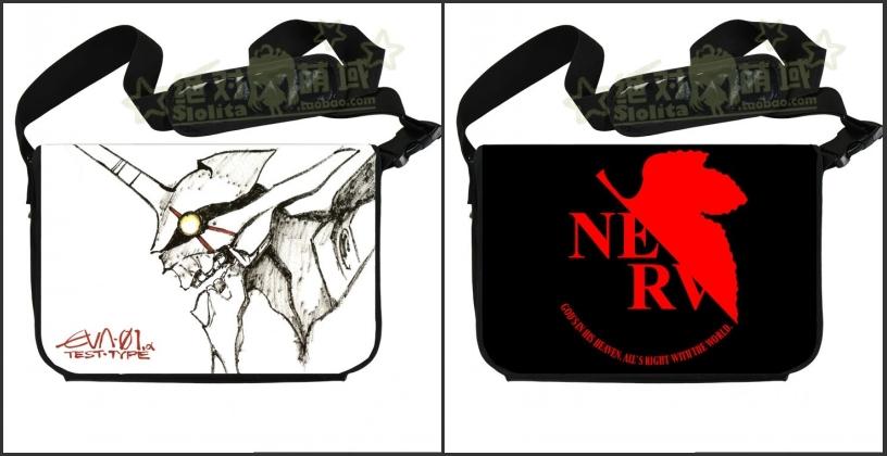 EVA NERV Neon Genesis Evangelion anime peripheral students one shoulder inclined shoulder bag bag Notebook leisure bag(China (Mainland))