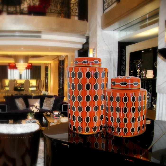 Fashion vintage modern fashion ceramic decoration storage tank home decoration accessories soft(China (Mainland))