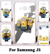 Popular Style Phone Skin For Samsung Galaxy J5 2015 j500 YC955 Cases Yellow Lovely MinionsCartoon Despicable Me Phone Bags