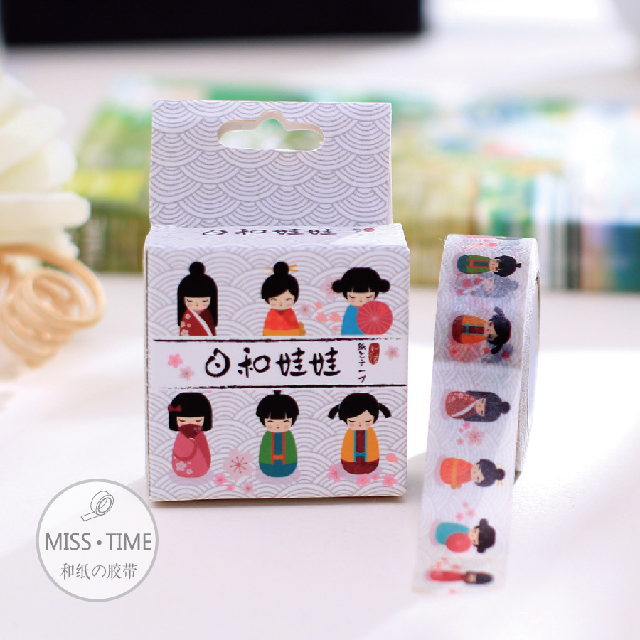 Washy Doll Japanese Designer Adhesive Paper Decorative Scotch Masking Washi Tape 10M Scrapbooking Album Diy Tapes Stickers<br><br>Aliexpress