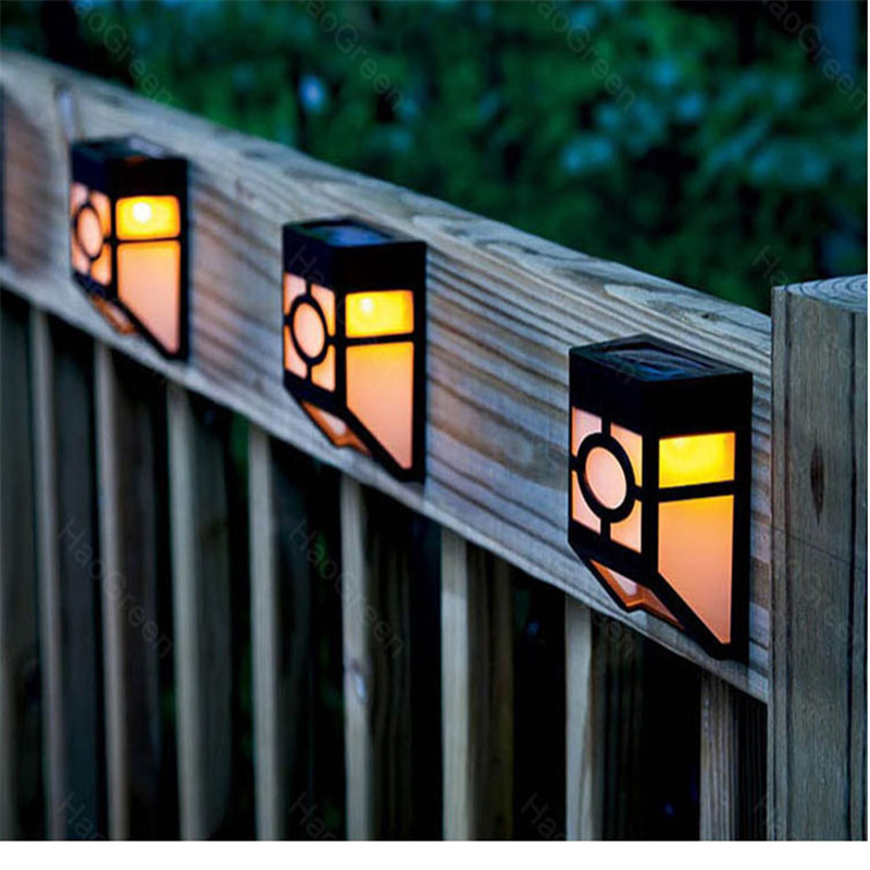 led wall lamp solar powered led path fence lamp outdoor. Black Bedroom Furniture Sets. Home Design Ideas