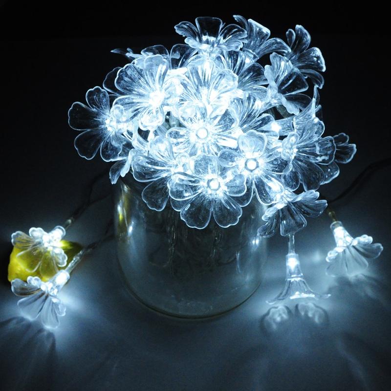Unique romantique de mariage de vacances arbre de noël décoration Led fleur artificielle chaîne de guirlande de lumière, 10 m 22.