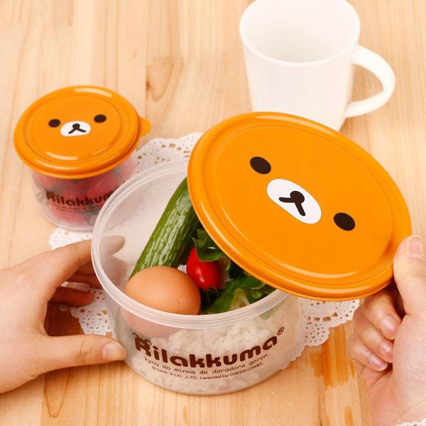 Free Shipping 2sets/lot Cute Relax Bear Rilakkuma & Yellow Chicken Lunch Bento Box, Preserving Box Wholesale