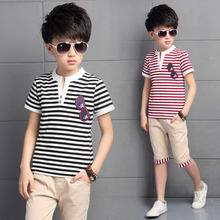 5 children's clothing male child set summer 2016 8 child boy 7 short-sleeve T-shirt 9 twinset 10 12